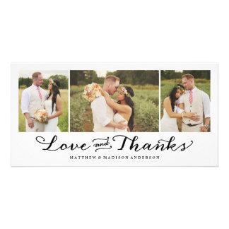 El amor más dulce el | que se casa le agradece tarjeta fotografica personalizada