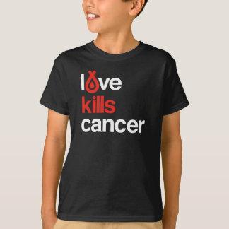 El amor mata al cáncer - la camiseta del niño