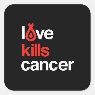 El amor mata al cáncer - pegatina