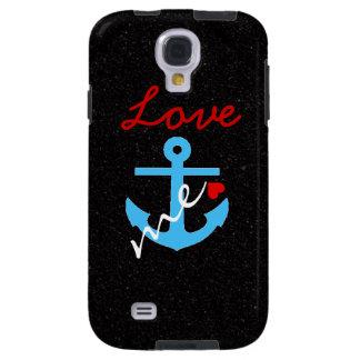 El amor me ancla caja de la galaxia S4 de Samsung Funda Para Galaxy S4