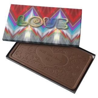 El amor me casa caja del chocolate caja con tableta de chocolate con leche grande