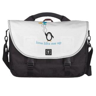El amor me levanta bolsas para portatil