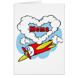 El amor Mema embroma el aeroplano Tarjeta De Felicitación