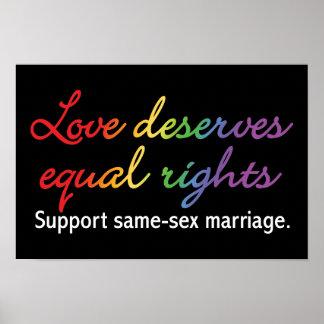 El amor merece las derechas iguales póster