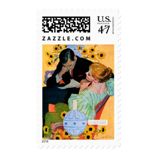 El amor muere lentamente timbre postal