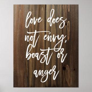 El amor no envidia, no se jacta o… Falso poster de