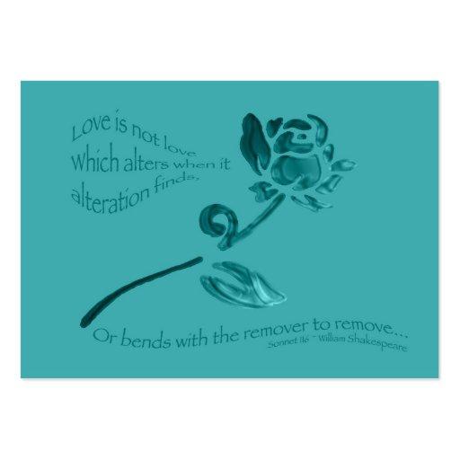 El amor no es amor… Etiqueta del regalo Tarjeta De Visita