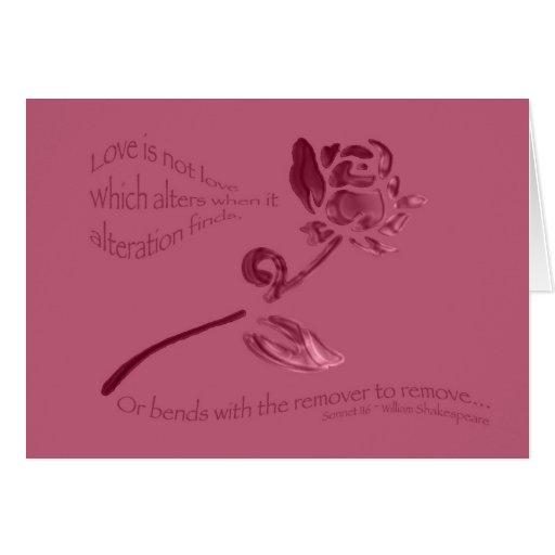 El amor no es amor… tarjeta de felicitación