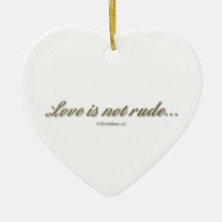 El amor no es grosero/no lo busca es poseer intere ornamento para reyes magos