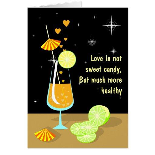El amor no es tarjeta dulce del caramelo