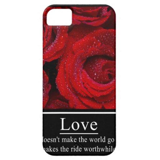 El amor no hace que el mundo va 'poster redondo iPhone 5 Case-Mate coberturas
