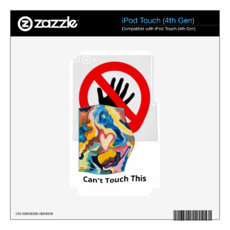 El amor no puede tocar esto calcomanía para iPod touch 4G
