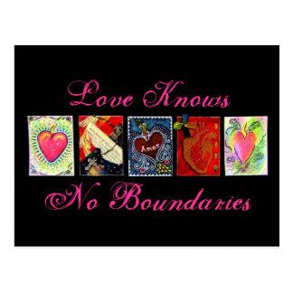 """El """"amor no sabe las postales de ningún límite"""""""