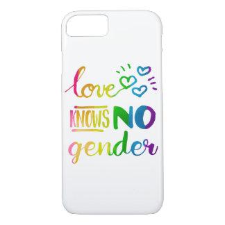 El amor no sabe ningún arco iris del orgullo del funda iPhone 7