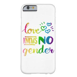 El amor no sabe ningún arco iris del orgullo del funda para iPhone 6 barely there