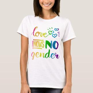 El amor no sabe ningún arco iris del orgullo del playera