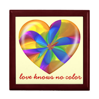 El amor no sabe ningún corazón del ámbar del calei cajas de recuerdo