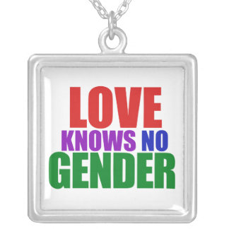 El amor no sabe ningún género collar plateado