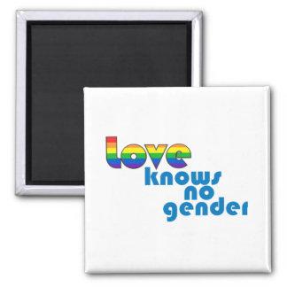 El amor no sabe ningún género imán cuadrado