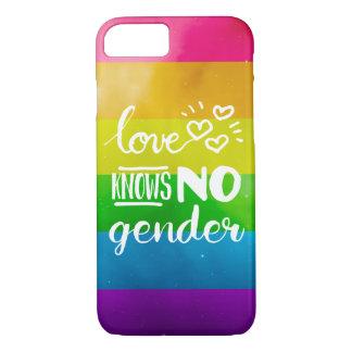 El amor no sabe ningún género LGBT Funda iPhone 7