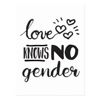 El amor no sabe ningún género LGBT Postales