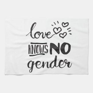 El amor no sabe ningún género LGBT Toallas De Mano