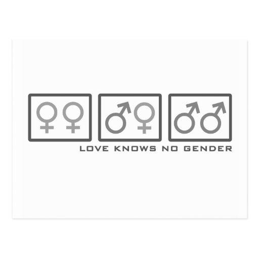 El amor no sabe ningún género tarjetas postales