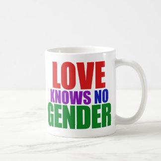 El amor no sabe ningún género taza de café