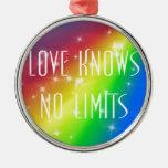 El amor no sabe ningún límite ornamento para reyes magos