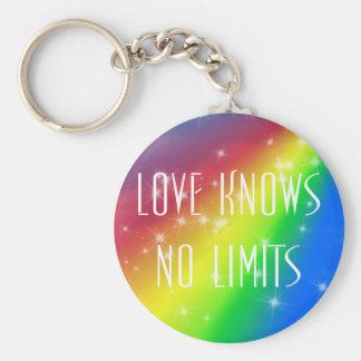 El amor no sabe ningún límite llavero redondo tipo pin