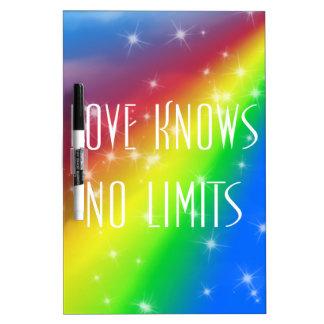 El amor no sabe ningún límite pizarras blancas