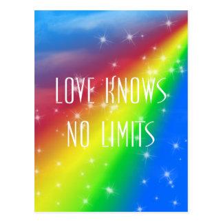 El amor no sabe ningún límite tarjeta postal