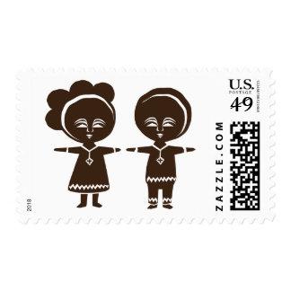 El amor no sabe ninguna frontera sellos postales
