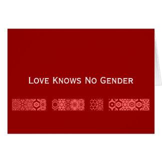 """El """"amor no sabe tarjeta de ningún género"""""""
