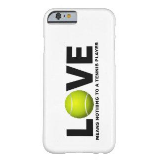 El amor no significa nada a un iPhone del jugador Funda De iPhone 6 Barely There