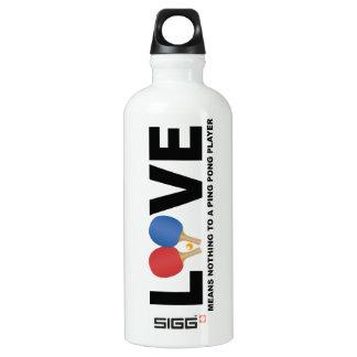 El amor no significa nada a una botella del