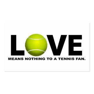 El amor no significa nada a una fan de tenis tarjetas de visita