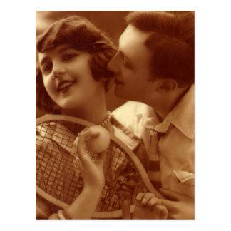 El amor no significa nada en tenis postal