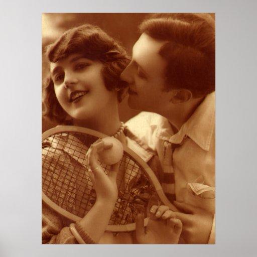 El amor no significa nada en tenis póster