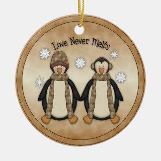 El amor nunca derrite:: Ornamento del día de fiest Ornato