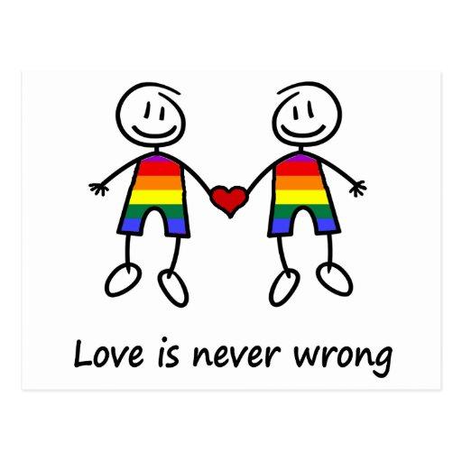 El amor nunca es incorrecto postal