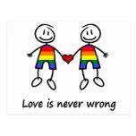 El amor nunca es incorrecto tarjeta postal
