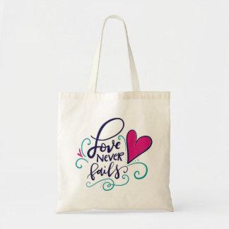 El amor nunca falla bolsa tela barata