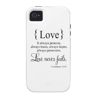 El amor nunca falla iPhone 4/4S funda