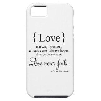 El amor nunca falla iPhone 5 funda