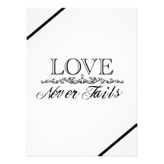 El amor nunca falla la invitación del boda