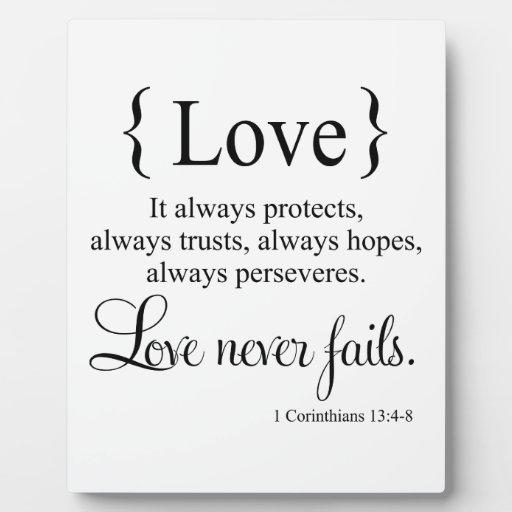 El amor nunca falla placas de madera
