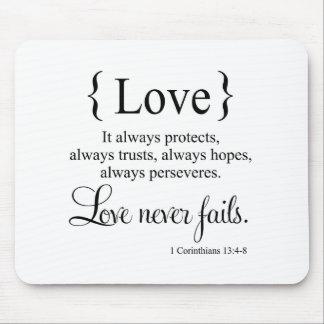 El amor nunca falla tapete de raton