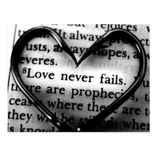 El amor nunca falla tarjetas postales