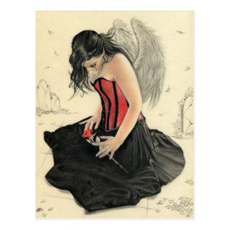 El amor nunca muere el estar de luto de tarjeta postal
